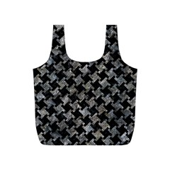 Houndstooth2 Black Marble & Gray Stone Full Print Recycle Bags (s)
