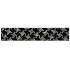 Houndstooth2 Black Marble & Gray Stone Flano Scarf (large)