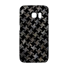 Houndstooth2 Black Marble & Gray Stone Galaxy S6 Edge