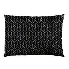 Hexagon1 Black Marble & Gray Stone Pillow Case (two Sides)