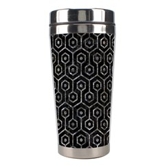 Hexagon1 Black Marble & Gray Stone Stainless Steel Travel Tumblers