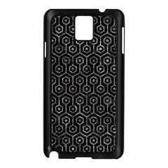 Hexagon1 Black Marble & Gray Stone Samsung Galaxy Note 3 N9005 Case (black)