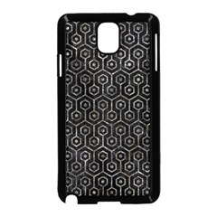 Hexagon1 Black Marble & Gray Stone Samsung Galaxy Note 3 Neo Hardshell Case (black)