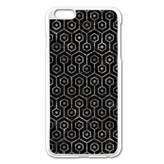Hexagon1 Black Marble & Gray Stone Apple Iphone 6 Plus/6s Plus Enamel White Case