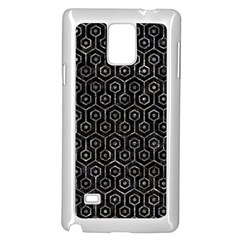 Hexagon1 Black Marble & Gray Stone Samsung Galaxy Note 4 Case (white)