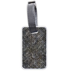 Hexagon1 Black Marble & Gray Stone (r) Luggage Tags (one Side)
