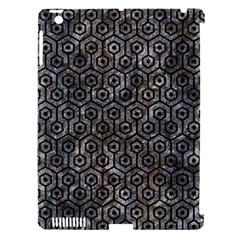 Hexagon1 Black Marble & Gray Stone (r) Apple Ipad 3/4 Hardshell Case (compatible With Smart Cover)
