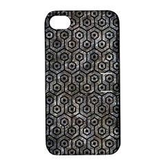 Hexagon1 Black Marble & Gray Stone (r) Apple Iphone 4/4s Hardshell Case With Stand