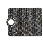 HEXAGON1 BLACK MARBLE & GRAY STONE (R) Kindle Fire HDX 8.9  Flip 360 Case Front