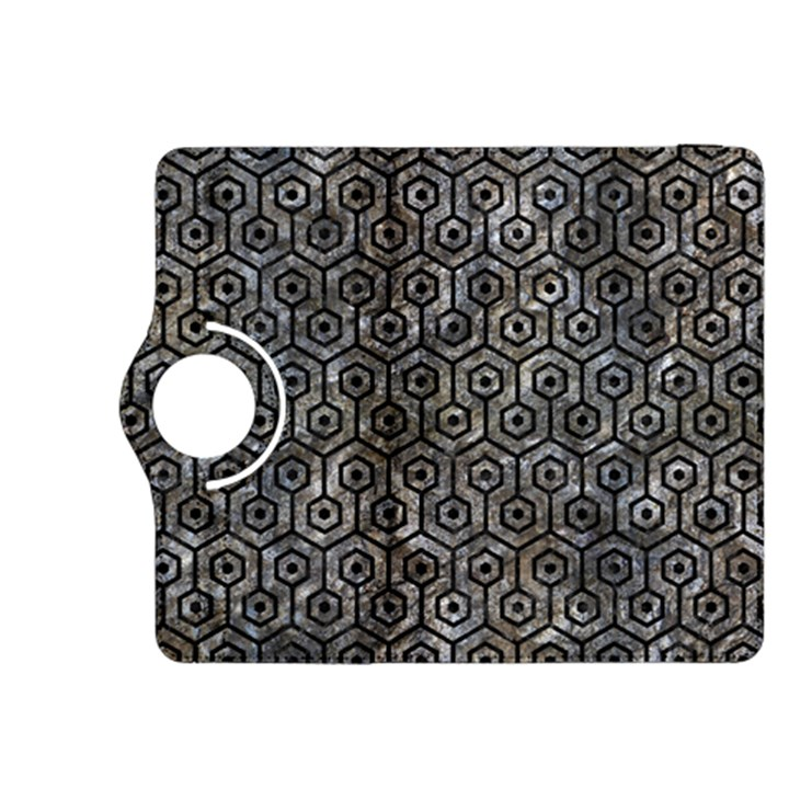 HEXAGON1 BLACK MARBLE & GRAY STONE (R) Kindle Fire HDX 8.9  Flip 360 Case