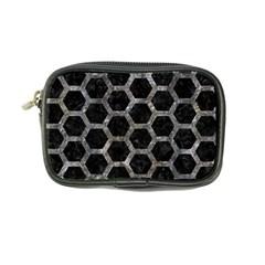 Hexagon2 Black Marble & Gray Stone Coin Purse