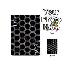 Hexagon2 Black Marble & Gray Stone Playing Cards 54 (mini)