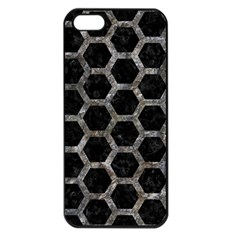 Hexagon2 Black Marble & Gray Stone Apple Iphone 5 Seamless Case (black)