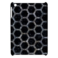 Hexagon2 Black Marble & Gray Stone Apple Ipad Mini Hardshell Case