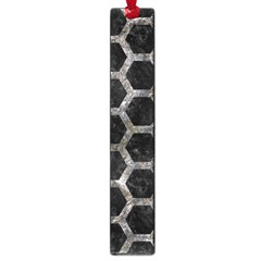 Hexagon2 Black Marble & Gray Stone Large Book Marks