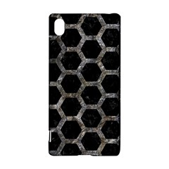 Hexagon2 Black Marble & Gray Stone Sony Xperia Z3+