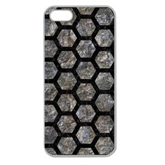Hexagon2 Black Marble & Gray Stone (r) Apple Seamless Iphone 5 Case (clear)