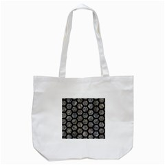 Hexagon2 Black Marble & Gray Stone (r) Tote Bag (white)