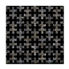 Puzzle1 Black Marble & Gray Stone Tile Coasters
