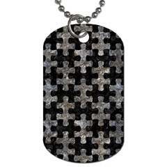 Puzzle1 Black Marble & Gray Stone Dog Tag (one Side)