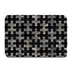 PUZZLE1 BLACK MARBLE & GRAY STONE Plate Mats 18 x12 Plate Mat - 1