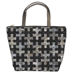 Puzzle1 Black Marble & Gray Stone Bucket Bags