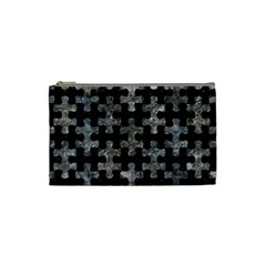 Puzzle1 Black Marble & Gray Stone Cosmetic Bag (small)