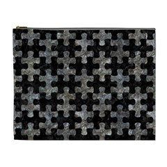Puzzle1 Black Marble & Gray Stone Cosmetic Bag (xl)