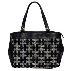 Puzzle1 Black Marble & Gray Stone Office Handbags (2 Sides)