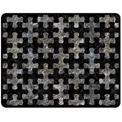 Puzzle1 Black Marble & Gray Stone Fleece Blanket (medium)
