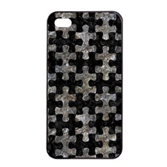 Puzzle1 Black Marble & Gray Stone Apple Iphone 4/4s Seamless Case (black)