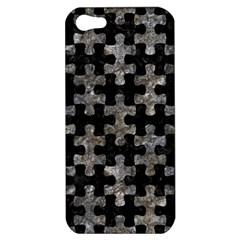 Puzzle1 Black Marble & Gray Stone Apple Iphone 5 Hardshell Case
