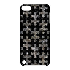 Puzzle1 Black Marble & Gray Stone Apple Ipod Touch 5 Hardshell Case With Stand