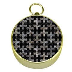 Puzzle1 Black Marble & Gray Stone Gold Compasses