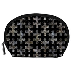 Puzzle1 Black Marble & Gray Stone Accessory Pouches (large)
