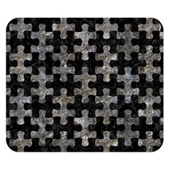 Puzzle1 Black Marble & Gray Stone Double Sided Flano Blanket (small)