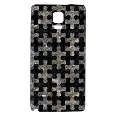 Puzzle1 Black Marble & Gray Stone Galaxy Note 4 Back Case