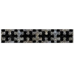 Puzzle1 Black Marble & Gray Stone Flano Scarf (large)