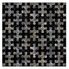 Puzzle1 Black Marble & Gray Stone Large Satin Scarf (square)