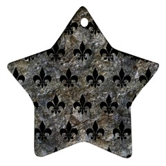 Royal1 Black Marble & Gray Stone Star Ornament (two Sides)