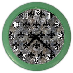 Royal1 Black Marble & Gray Stone Color Wall Clocks