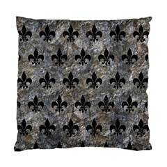 Royal1 Black Marble & Gray Stone Standard Cushion Case (one Side)