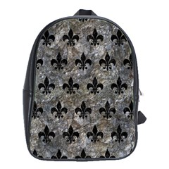 Royal1 Black Marble & Gray Stone School Bag (large)