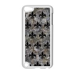 Royal1 Black Marble & Gray Stone Apple Ipod Touch 5 Case (white)
