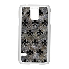 Royal1 Black Marble & Gray Stone Samsung Galaxy S5 Case (white)