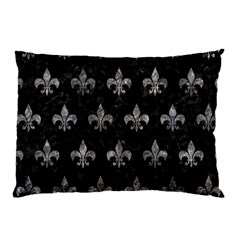 Royal1 Black Marble & Gray Stone (r) Pillow Case (two Sides)