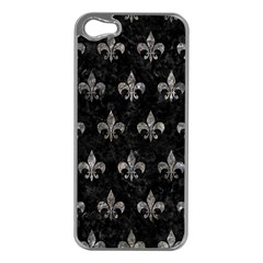 Royal1 Black Marble & Gray Stone (r) Apple Iphone 5 Case (silver)