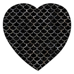 Scales1 Black Marble & Gray Stone Jigsaw Puzzle (heart)