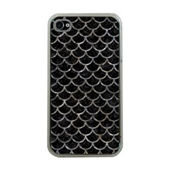 Scales1 Black Marble & Gray Stone Apple Iphone 4 Case (clear)