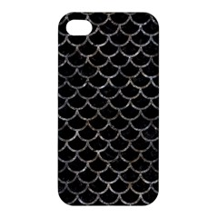 Scales1 Black Marble & Gray Stone Apple Iphone 4/4s Premium Hardshell Case